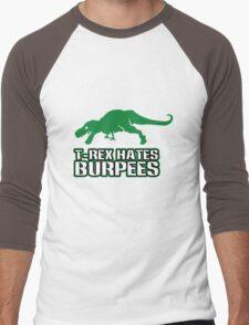 T rex hates burpees geek funny nerd Men's Baseball ¾ T-Shirt