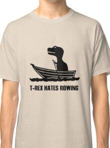 T rex hates rowing geek funny nerd Classic T-Shirt