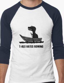 T rex hates rowing geek funny nerd Men's Baseball ¾ T-Shirt