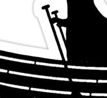 T rex hates rowing geek funny nerd Sticker