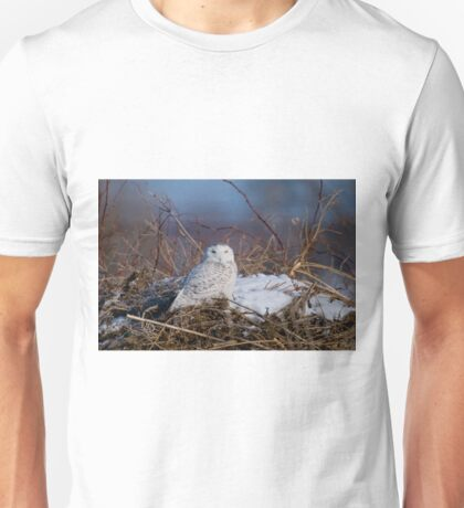 Snowy Owl on Hill Top - Amherst Island, Ontario Unisex T-Shirt