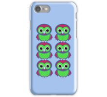 Colorful Owls .. tee shirt iPhone Case/Skin