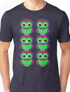 Colorful Owls .. tee shirt Unisex T-Shirt