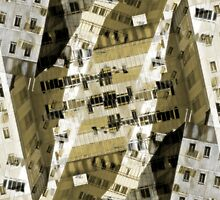 Abstract city buildings by steveball
