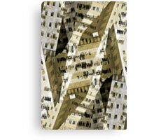 Abstract city buildings Canvas Print