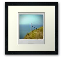 Cliff Polaroïd Framed Print