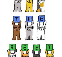All the best for yur retirement, cartoon cats. by KateTaylor