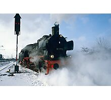 Steam Locomotive approaching, Germany, 1985. Photographic Print