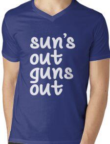 Sun's Out Guns Out Mens V-Neck T-Shirt