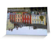 Colourful Water Reflection Greeting Card