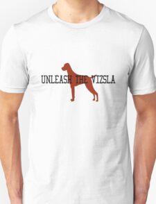 Unleash the vizsla mens orange geek funny nerd Unisex T-Shirt