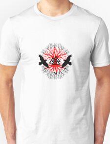 Viking raven tree 2 geek funny nerd T-Shirt
