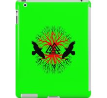 Viking raven tree 2 geek funny nerd iPad Case/Skin