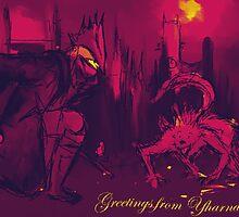Bloodborne Yharnam Postcard by FlorenceRose