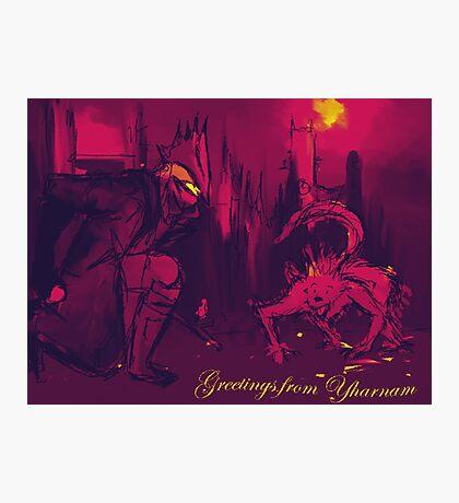 Bloodborne Yharnam Postcard Photographic Print