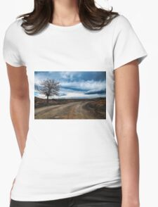 Tree & the Road in HDR... Womens Fitted T-Shirt
