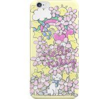 White kitty cat iPhone Case/Skin