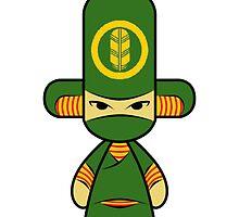 Capsule Toyz - Green Ninja by Saing Louis