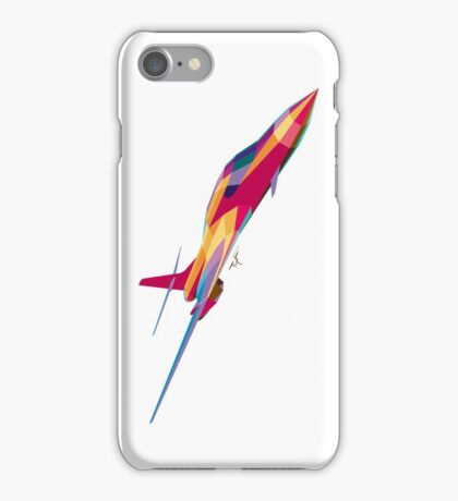 B-1B Lancer Psychedelic White Vert iPhone Case/Skin