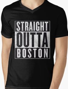 Straight Outta Boston Mens V-Neck T-Shirt