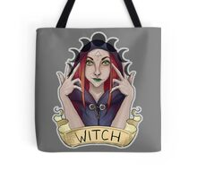 Witch with Crescent Moons Tote Bag