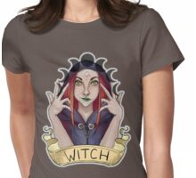 Witch with Crescent Moons Womens Fitted T-Shirt