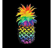Pineapple Rainbow Fruit Photographic Print