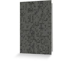 Tattered Silver Medieval Chainmail Armour Texture Background Greeting Card