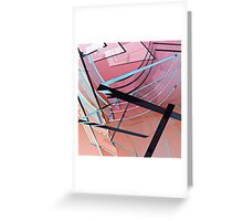 Transparent Planes Abstract One Greeting Card