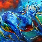 CAPTURED WILD STALLION EQUINE ART ORIGINAL by MARCIA BALDWIN by MARCIA BALDWIN