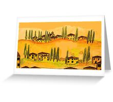 tuscany houses.... Greeting Card