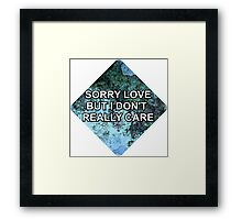Happily (Sorry Love) - One Direction Framed Print
