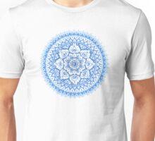Yin Yang Mandala in Soft Blues Unisex T-Shirt