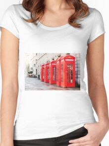 Telephone Boxes Women's Fitted Scoop T-Shirt