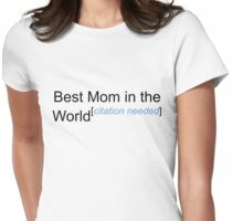 Best Mom in the World - Citation Needed! Womens Fitted T-Shirt