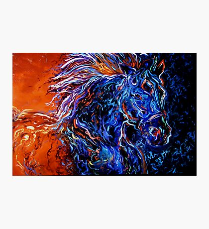 STORMY 2 ORIGINAL OIL PAINTING HORSE ART by MARCIA BALDWIN Photographic Print