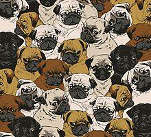 Social Pugz  by Huebucket