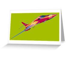 B-1B Lancer Psychedelic Green Diag Greeting Card