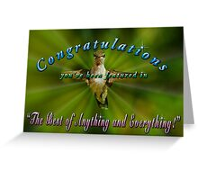 Feature Banner for The Best of Everything and Anything Challenge Greeting Card