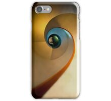 Spiral stairs in pastels iPhone Case/Skin
