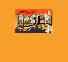 Boston Vintage Travel Postcard Restored T-Shirt