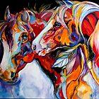 TWO SPIRITS EQUINE SOUTHWEST ORIGINAL by MARCIA BALDWIN by MARCIA BALDWIN