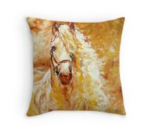 GOLDEN GRACE EQUINE ART ORIGINAL by MARCIA BALDWIN Throw Pillow