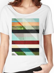 Colorful Textured Abstract Women's Relaxed Fit T-Shirt