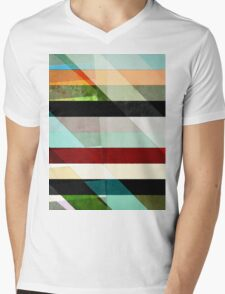 Colorful Textured Abstract Mens V-Neck T-Shirt