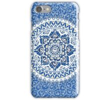 Yin Yang Mandala Pattern (Blue & Yellow) iPhone Case/Skin