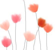 Red, orange flowers by VieiraGirl
