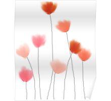 Red, orange flowers Poster