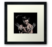 Watercolour Wolverine Framed Print