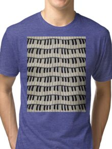 Rock And Roll Piano Keys Tri-blend T-Shirt